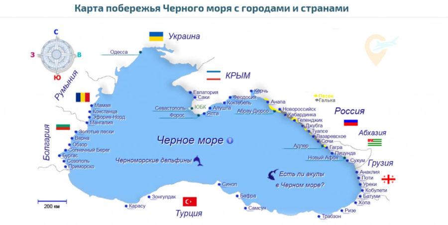 Лучшие курорты Черного моря в России